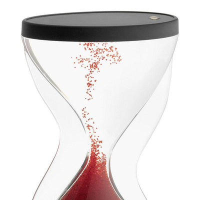 TFA Germany Contra Reverse Flowing Hourglass Black Red 12cm 18.6004.05 2