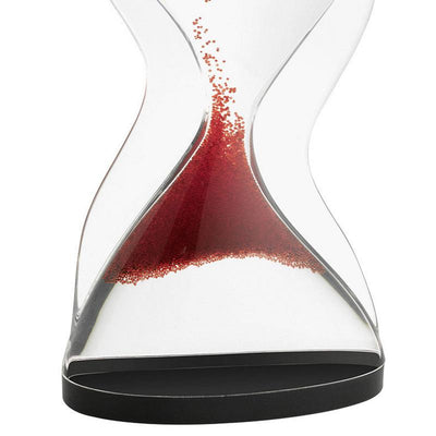 TFA Germany Contra Reverse Flowing Hourglass Black Red 12cm 18.6004.05 3