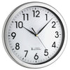 TFA Germany Blaze Analogue Wall Clock White and Silver 31cm 60.3519.02 1