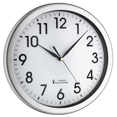 TFA Germany Corona Analogue Wall Clock White and Silver 31cm 60.3519.02 1