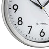 TFA Germany Corona Analogue Wall Clock White and Silver 31cm 60.3519.02 3