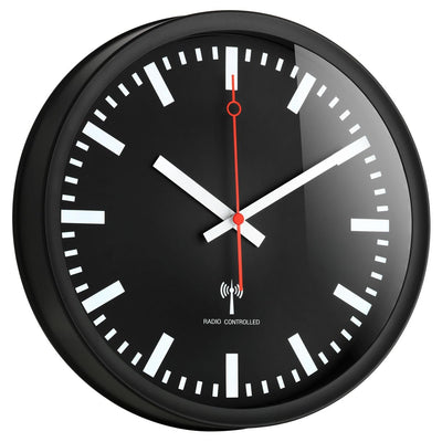 TFA Germany Danny Analogue Wall Clock Black 25cm 60.3513 1