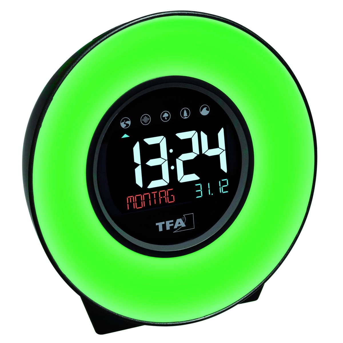 TFA Germany Dexter Mood Light Alarm Clock Changing Colours 14cm 60.2023.02 1