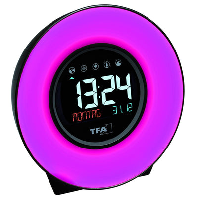 TFA Germany Dexter Mood Light Alarm Clock Changing Colours 14cm 60.2023.02 3