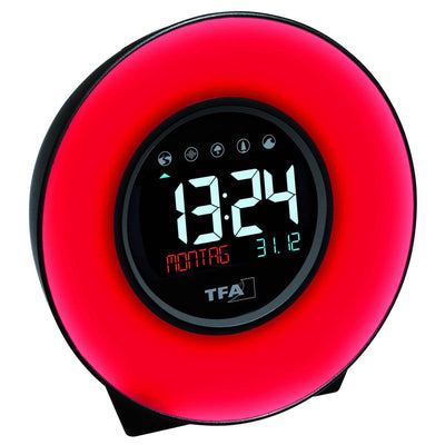 TFA Germany Dexter Mood Light Alarm Clock Changing Colours 14cm 60.2023.02 4