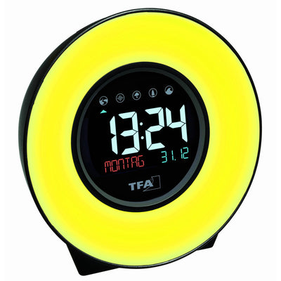 TFA Germany Dexter Mood Light Alarm Clock Changing Colours 14cm 60.2023.02 5