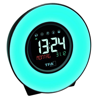 TFA Germany Dexter Mood Light Alarm Clock Changing Colours 14cm 60.2023.02 7
