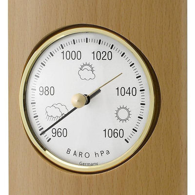 TFA Germany Gordon Analogue Solid Wood Weather Station Beech Natural 35cm 20.1028.05 3