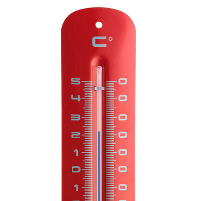 TFA Germany Grant Indoor Outdoor Metal Thermometer Red 20cm 12.2051.05 2