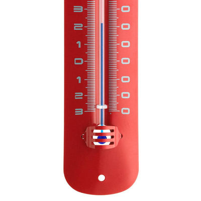 TFA Germany Grant Indoor Outdoor Metal Thermometer Red 20cm 12.2051.05 3