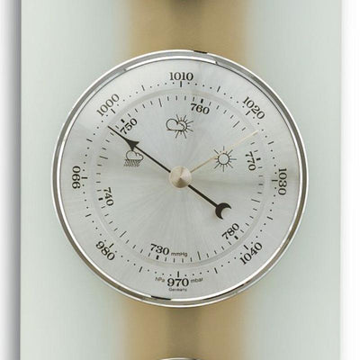 TFA Germany Hadley Analogue Glass Weather Station Natural Beech Glass 39cm 20.1067.05 3