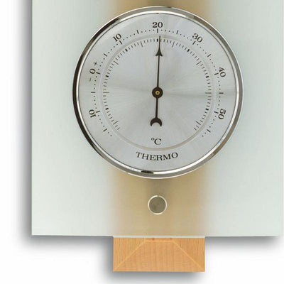 TFA Germany Hadley Analogue Glass Weather Station Natural Beech Glass 39cm 20.1067.05 4