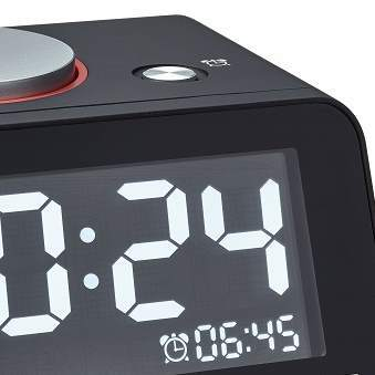 TFA Germany Hometime Digital Alarm Clock Black 11cm 60.2017.01 2