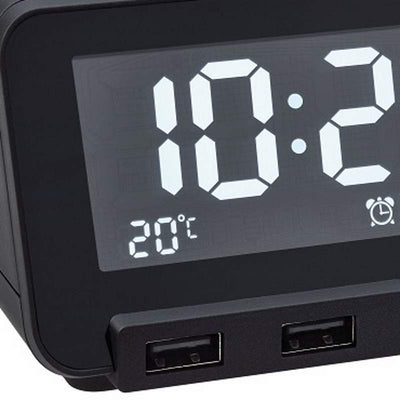 TFA Germany Hometime Digital Alarm Clock Black 11cm 60.2017.01 3