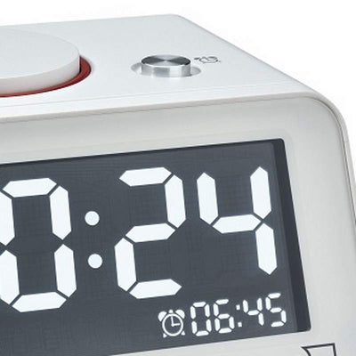 TFA Germany Hometime Digital Alarm Clock White 11cm 60.2017.02 2
