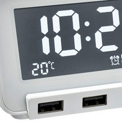 TFA Germany Hometime Digital Alarm Clock White 11cm 60.2017.02 3