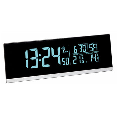 TFA Germany Indoor Outdoor Temperature USB Charging Digital Alarm Clock 22cm 60.2548.01 1