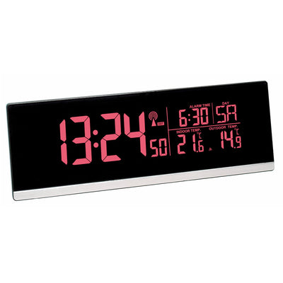 TFA Germany Indoor Outdoor Temperature USB Charging Digital Alarm Clock 22cm 60.2548.01 2