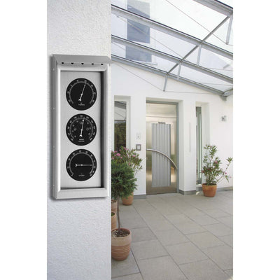 TFA Germany Kyrie Outdoor Stainless Steel Weather Station Silver 36cm 20.2038 2