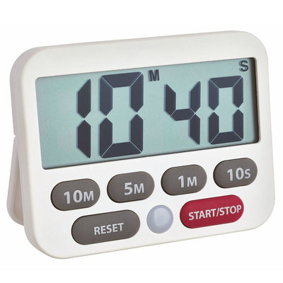 TFA Germany Maddox Digital Timer and Stopwatch White 9cm 38.2038.02 1