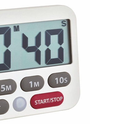 TFA Germany Maddox Digital Timer and Stopwatch White 9cm 38.2038.02 3