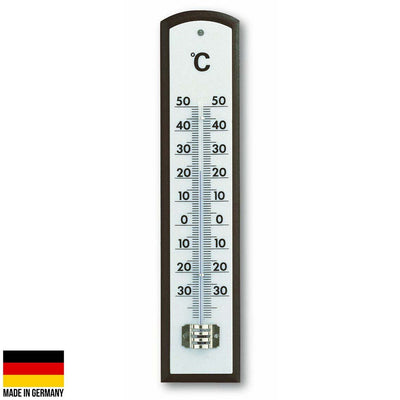 TFA Germany Marlon Mahogany Analogue Thermometer 21cm 12.1013 1
