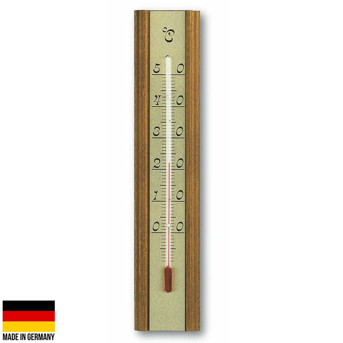 TFA Germany Mccoy Solid Oak Wood Analogue Thermometer 20cm 12.1016 1