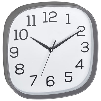 TFA Germany Melvin Rounded Square Wall Clock Grey 30cm 60.3053.10 1