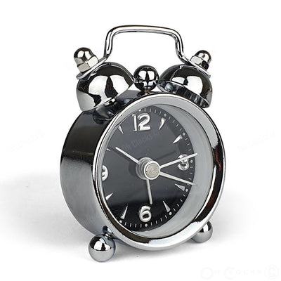TFA Germany Mini Nostalgia Twin Bell Alarm Clock Black 6cm 60.1000.01 3