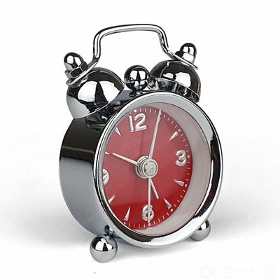 TFA Germany Mini Nostalgia Twin Bell Alarm Clock Red 6cm 60.1000.05 3