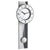 TFA Quincy Analogue Pendulum Wall Clock, Silver and White, 59cm