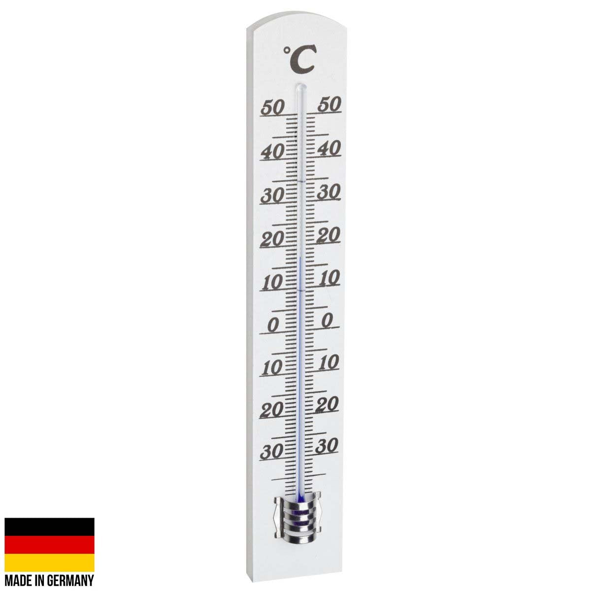 TFA Germany Randall Beech Wood Analogue Thermometer 18cm 12.1003.09 2