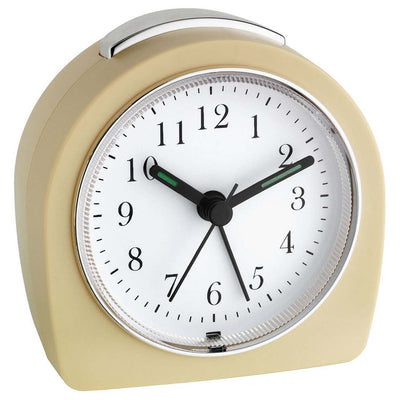 TFA Germany Retro Alarm Clock Cream 9cm 60.1021.09 8