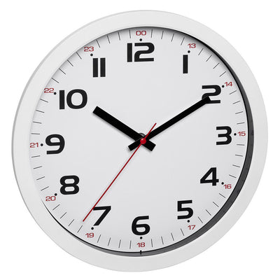 TFA Germany Roland 12 and 24 Hour Marks Wall Clock White 31cm 60.3050.02 1
