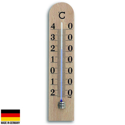 TFA Germany Ryden Beech Wood Large Scale Analogue Thermometer 25cm 12.1005 1