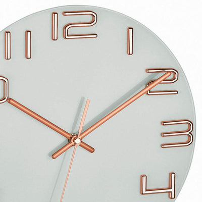 TFA Germany Sonia Analogue Glass Dial Wall Clock Copper 30cm 60.3043.51 2