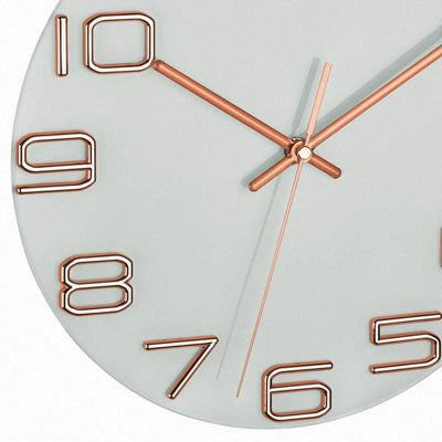 TFA Germany Sonia Analogue Glass Dial Wall Clock Copper 30cm 60.3043.51 3