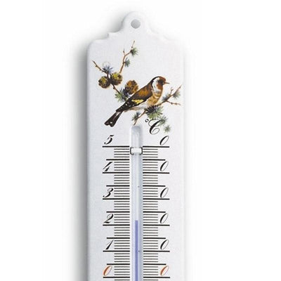 TFA Germany Tavin Indoor Outdoor Metal Thermometer White 23cm 12.2010.20 2
