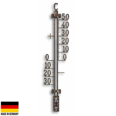 TFA Germany Teo Classic Outdoor Metal Thermometer Antique Copper 28cm 12.5001.51 1