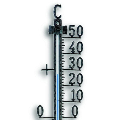 TFA Germany Teo Classic Outdoor Metal Thermometer Black 28cm 12.5001.01 2