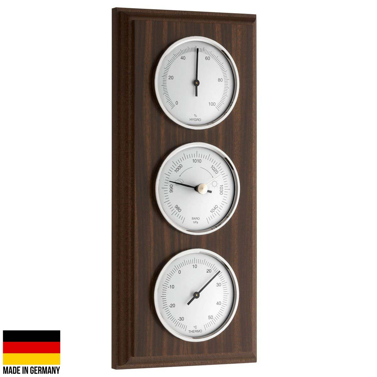 TFA Germany Trevor Analogue Weather Station Walnut 27cm 20.1088 1