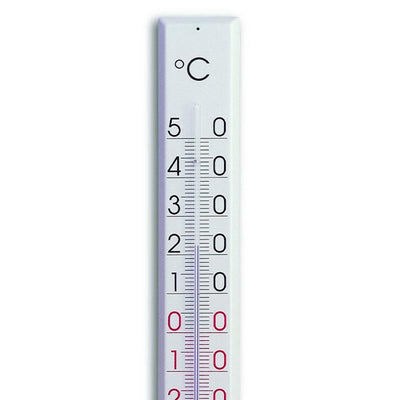 TFA Germany Tyler Indoor Outdoor Metal Thermometer White 81cm 12.2015 2
