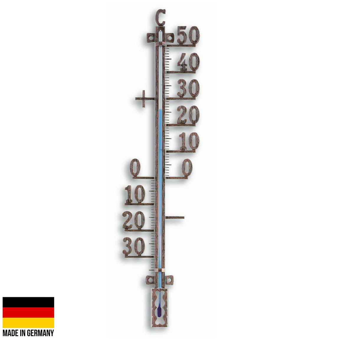 TFA Germany Tyson Classic Outdoor Metal Thermometer Antique Copper 41cm 12.5002.51 1