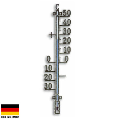 TFA Germany Tyson Classic Outdoor Metal Thermometer Antique Tin 41cm 12.5002.50 1