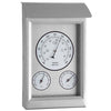 TFA Germany Weatherproof Stainless Steel Weather Station Silver 23cm 20.2046 1