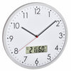 TFA Germany Wez Analogue with Digital Temperature and Humidity Wall Clock 31cm 60.3048.02 1