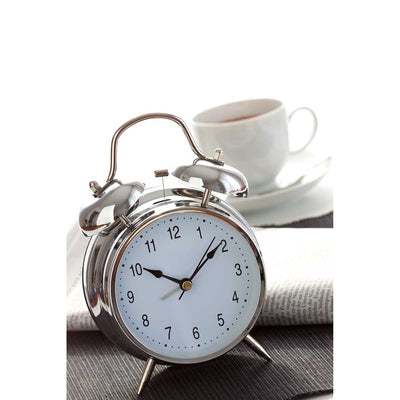 TFA Nostalgia Double Bells Alarm Clock Chrome 18cm 98.1043 Lifestyle