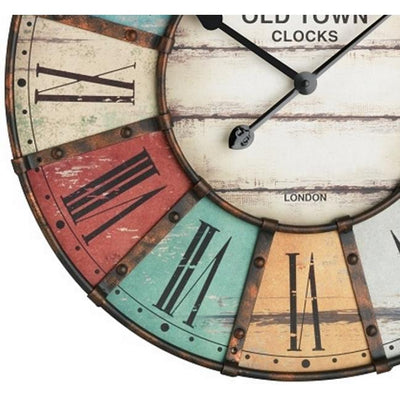 TFA Old Town Vintage Metal Wall Clock 60cm 60.3021 Bottom