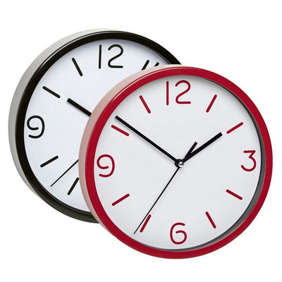 TFA Red Frame Red Numbers Wall Clock 20cm