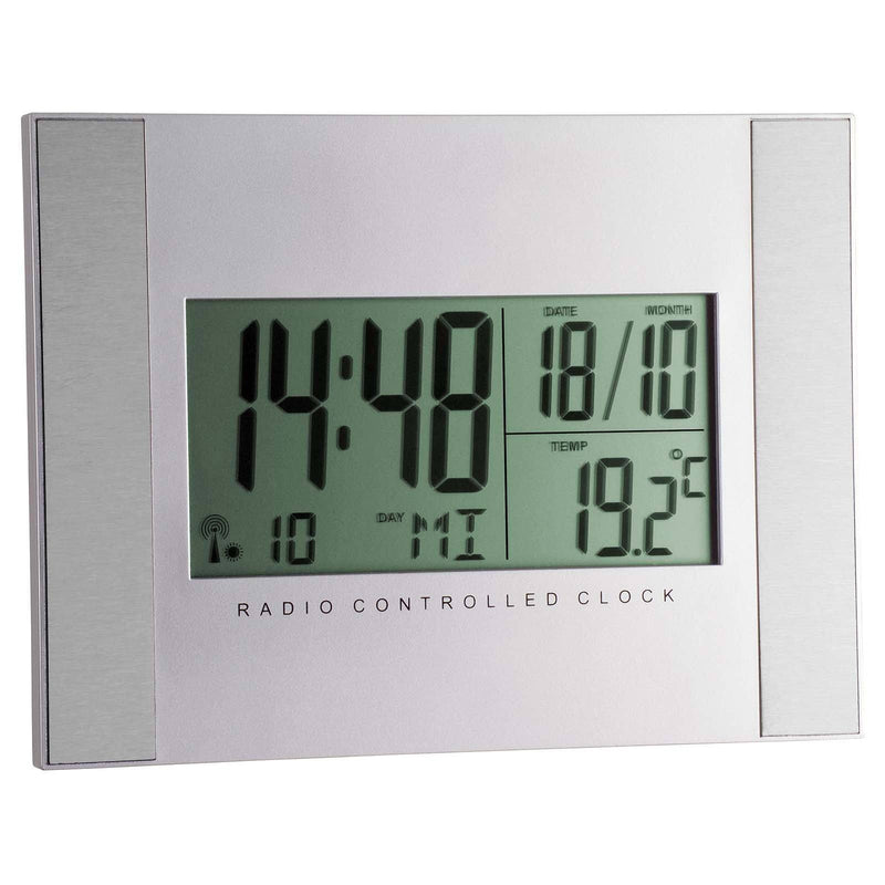 TFA Temperature Day Date Digital Alarm Wall or Table Clock 20cm 98.1061
